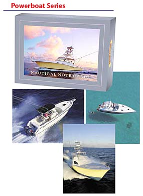 Powerboat Nautical Note Card Series
