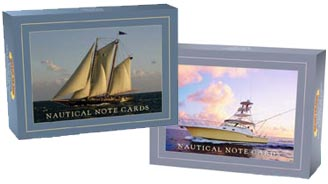 Nautical Note Cards - perfect nautical gift for sail or power boaters